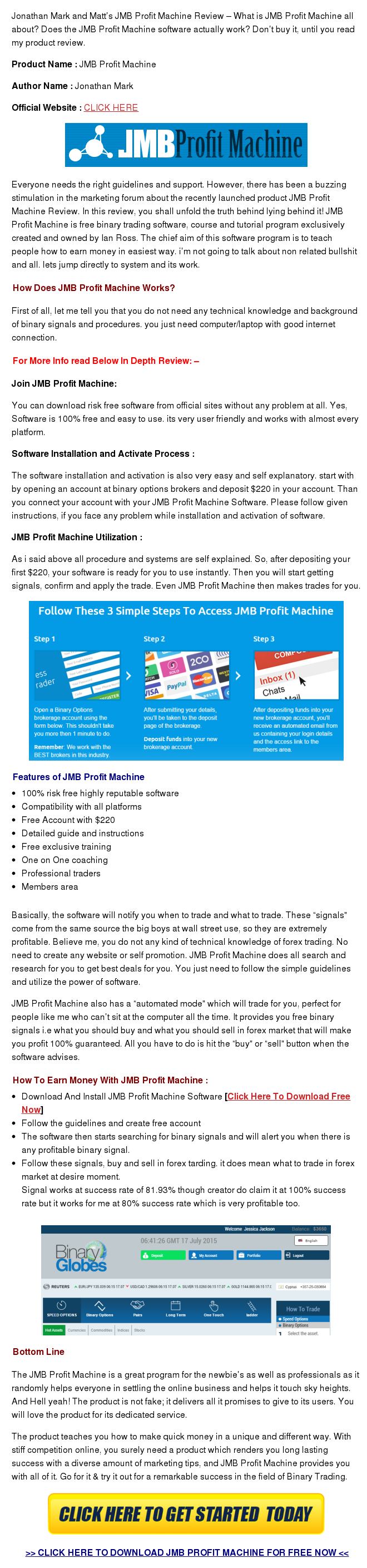JMB Profit Machine Review