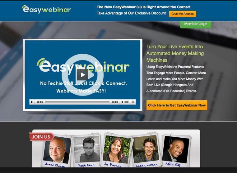 Easy Webinar vs WebinarJam & EverWebinar Review and discount