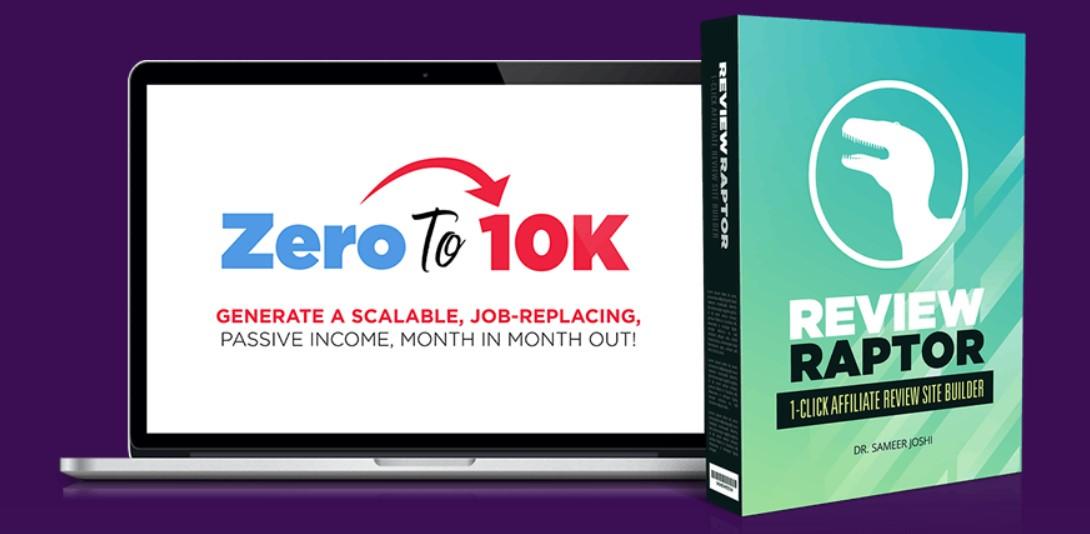 Zeroto10k ReviewRaptor Product