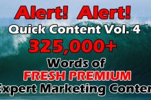 325K Premium IM Words Content with PLR Review